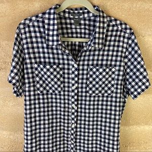 Eddie Bauer Shirt Sz 2X Black check
